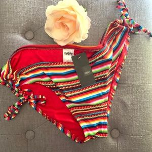 New with tags Mossimo Red Multicolor Bikini Bottom